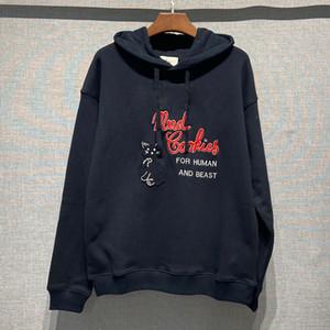 Designer Hoodies für Mann Frauen Sweatshirts Langarm Hemden Herbst Frühling Luxus Kleidung Stickerei Katze Druck Brief Herren Pullover S-L