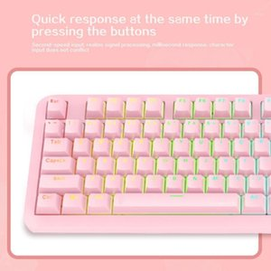 Gaming Keyboard RGB Backlight Mechanical Computer Ergonomic For PC Laptop Blue Switches 104 Keys Stylish Anti Ghosting USB Wired1