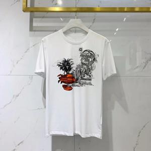 2021 летние новые мужские дизайнер роскошные белые футболки ~ китайский размер 3XL Thirts ~ замечательные мужские рубашки с коротким рукавом