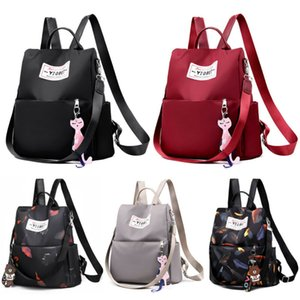 Hot Sale Women Anti-theft Oxford School Backpack Travel Waterproof Satchel Shoulder Bag without Pendant