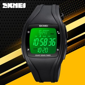 SKMEI Digital Wristwatches Fashion Mens Electronic Led Display Watch Countdown Chronograph Clock Sport Waterproof Watches Women