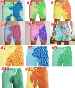 Beach Shorts Men Magical Color Change Swimming Trunks Summer Swimsuit Swimwear Shorts Quick Dry