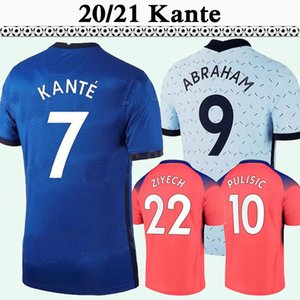 20 21 Zieech Pulisic Mens Soccer Technsys Kante Giroud Lampard Werner Jorginho Kovacic Lampard Home Blue Blue Прочь 3-й футбол рубашка с коротким рукавом