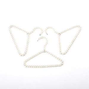 100pcs Güzel 20cm İnci Kid Bebek Pet Köpek Giyim Askı Plastik Beyaz Askıları İçin Giyim ShopHome Çamaşır Ürün KKF2155