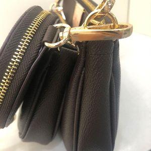solds womens favorite multi pochette accessories handbag purse genuine leather flower shoulder crossbody bag ladies purses 3 pcs purse bags
