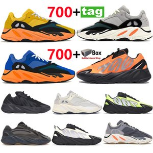 700 V1 V2 Zapatillas de correr reflectantes Sun brillante azul Sólido gris naranja Tie-Dye Runner Carbon Treal Blue Static Black Men Sneakers
