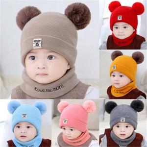 Hiver bébé tricoté chapeaux de Noël chapeaux chauds chapeaux tricotés chapeau de crochet à tricoter pour bébé Hiver chapeaux chaude chaude chaude YFA2650