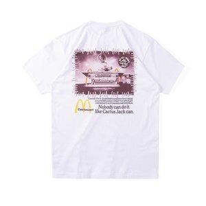 Ins Tshirt shirt 2020 Hot Travis Scott Jack Bar Snack Cactus Skateboard Tee Casual Mens Street Summer Women t Collaborate Spring Twuab