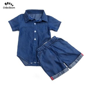 Boy sets Cowboy Denim Jeans New Born Baby Boy Fashion Clothing Outfits Baby Girl romper shorts Casual Clothing Sets 2020 new