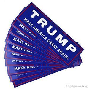 10Pcs Set Trump Make America Great Again Car Bumper Sticker Trump Re-Election 2020 Bumper Sticker Car Window Bumper Stickers DH1035 T03