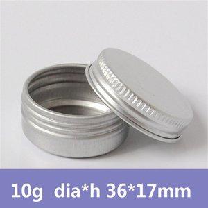30pcs lot Screw Cap Round Small Sample Size 10g Cosmetic Beauty Make up Empty Aluminum Jars