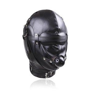 Bocca Bavaglio qualità con il cappuccio gimp Blindfold Mask # R52 Restraint Nero Jixgs completa