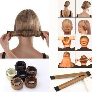 1pc Magic Hair Bun Maker Bud Hair Band Twist DIY Hairstyle Tool Synthetic Donut Headband Women Hair Accessories Girl