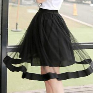 2020 New Summer Womens College Gauze Skirt Lace Stitching On The Wind Skirt Free Shipping Drop Shipping