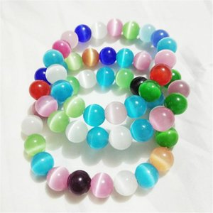 Natural Mixed Multi Colorful Gems Stone Wristband Bracelet Women's Opal Moonstone Natural Stone Beads Bracelets 8mm 10mm 12mm