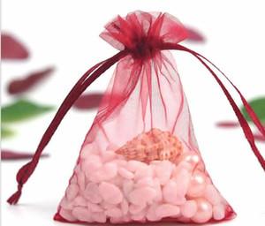 Wholesale 100pcs 9x7cm Organza Christams Wedding Gift Bag Jewlery Bag candy bag Gift packing Free Shippingju0245