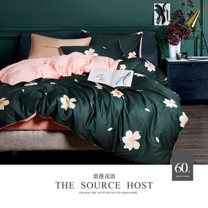 No.26-30 Beautiful sateen green and pink bedding sets on sale queen size quilt covers 4pcs egyptian cotton bed linen double full