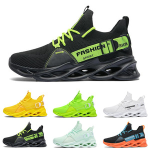 high quality men fashion running shoes breathable trainers black white green yellow lemon orange blue mens sports sneakers size 40-46