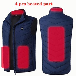 Ebaihui 8 4 Places Heated Vest Men Women Electric Heating USB Vests Carbon Camping Heat Jacket Hunting Fishing Graphene P8101-8