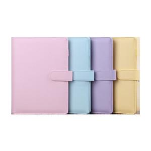 5 Farben A5 Leere Notizbuch-Mappe 23 * 18cm ungeheftetes Notebooks ohne Papier PU Kunstleder File Folder Spiral Planer Scrapbook