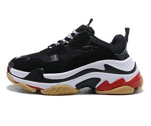 2020 Продажа Новый Бренд 17 Трехместный S Платформенные Кроссовки Мужчины Женские Черные Красные Белые Зеленые Бегущие Обувь Увеличьте наружные кроссовки Размер 36-45