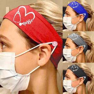 5 colores diseñador de las mujeres yoga de la aptitud de la venda elástico de seda de la leche enfermera Botón bandas Hairband deportes al aire libre Cabeza postizo Accesorios