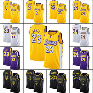 James 23 LeBron Basketball Jersey Bryant Anthony Kyle Davis Kuzma Kuzma Oneal Basketball Jerseys Los