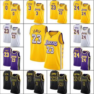 James 23 Lebron Basketbol Jersey Bryant Anthony Kyle Davis Kuzma Oneal Basketbol Formaları LosMeleklerLakeÜniforma