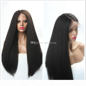 Pre Plucked 5*4.5 Silk Base Glueless Full Lace Wigs For Black Women Yaki Straight Remy Malaysian Human Hair