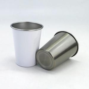 Нержавеющая сталь Пинта Чашки Конус металла Пиво массажер Сублимация Premiun стекируемые Unbreakable Питьевой Кружки White Water Glasses 300ML AHD2375