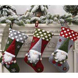 New Year Christmas Stocking Sack Xmas Gift Candy Bag Noel Christmas Decorations for Home Natal Navidad Sock Tree Decor