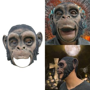 1pcs Cosplay Halloween T200116 Maskeler Tam Orangutan Masquerade Lateks Korkunç Maymun Yüz Parti Hayvan Prop Gerçekçi Fantezi Elbise Mas Oadh Maske