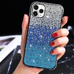 Bling Bling Блеск телефон дело для IPhone 12 11Pro XS MAX задней стороны обложки для Iphone 7 8 6 Plus Gradient Алмазные футляры