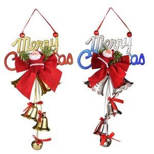 Natale Bells Christmas Tree ornamenti Babbo Natale Bells regalo di natale Buon Natale a sospensione DHL DHE2269 spedizione gratuita