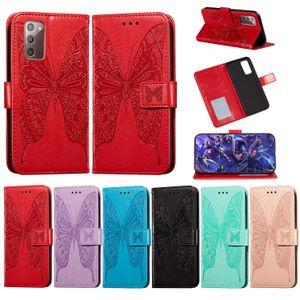 Cas de téléphone pour Samsung Galaxy S21 Note 20 S20 Ultra S10 Plus A51 A71 A41 A11 A31 A11 A11 A11 A11 A11 M31 A81 A91 Papillon Papillon Flip