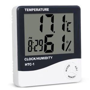 Digital Lcd Temperature Hygrometer Clock Humidity Meter Thermometer With Clock Calendar Alarm Htc -1 Free Shipping Wb1298