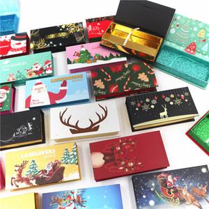 Горячая рождественская магнитная краска для ресниц 25 мм норки ресницы упаковки коробка рождественские ресниковые коробки жесткие магнитные для длинной и регулярной норковой ресницы