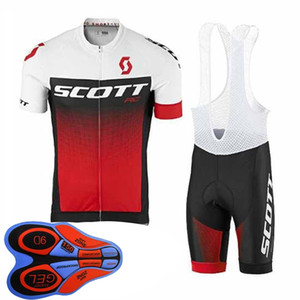 2020 Scott Team Men Cycling Jersey 9d Bib Shorts Set Summer Breathable Quick Dry Road Bike Uniform Outdoor Sports Bicycle Outfits Y08210