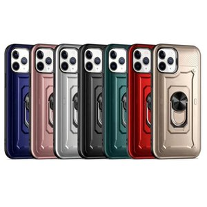 Fast Ship Case for iPhone 12 Pro Max 12 Mini iPhone 11 Max XR XS 6G 7G 8G Slim Armor Design Suction New Tough Ring Cell Phone Case