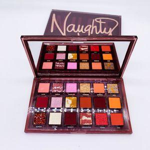 Heiße Make-up Lidschatten-Palette Naughty nackt 18 Farbe Lidschatten Schimmern Matte Nude Lidschatten Schönheitskosmetik Weihnachtsgeschenk