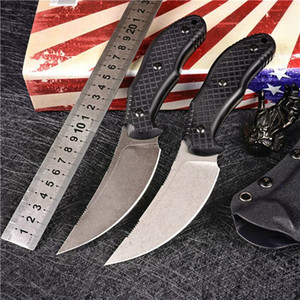1Pcs New Fixed Blade Machete M390 Stone Wash Blade Full Tang G-10 Handle Tactical Knives With Kydex