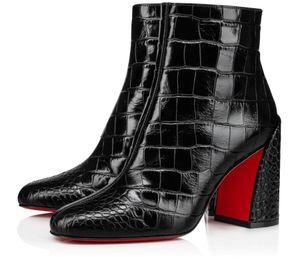 Famous Designer donne Turela Stivali inferiori rossi Stivali Lady Fashion inverno Bottino grosso Heels Wedding Party Rosso Sole Booties EU43