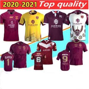 2020 2021 Malou Rugby League Queensland QLD 19/20/21 cimarrones Malou Jersey de rugby MAROONS ESTADO DE ORIGEN Rugby camisa chaleco pantalones cortos tamaño S-3XL