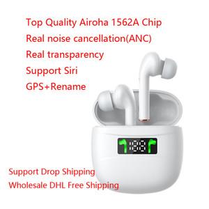 Annulation du bruit TWS écouteurs sans fil Bluetooth Transparence mode Oreillettes Top Airoha 1562 Chip Pour IOS Android Phone gros DHL gratuit