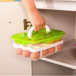 1 шт. 24 отверстия портативный пластиковый кухонный яйцо для хранения яйца Органайзер открытый пикник холодильник хранение яичной коробки 201022