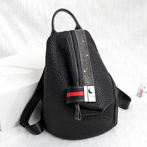 Neue Frauen Mode Tasche Strass Rivet Nieten Retro Rucksack Mädchen Schultasche Reise Umhängetasche Handtasche Geldbörsen Packs