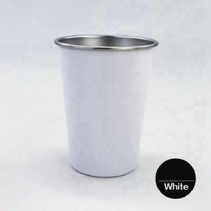 Sublimation Stainless Steel Pint Cups 10oz Cone Metal Beer Tumbler Premiun Stackable Unbreakable Drinking Mugs White Water Glasses RRA3710