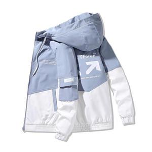 Moda Abbigliamento Giacche da uomo AIRGRACIAS 2020 vestiti di autunno Formato degli uomini Jacket 4XL Outwear cappotto incappucciato Slim Parkas 8 colori