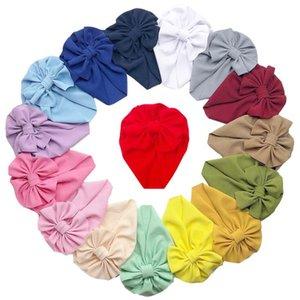 Arcos nudo sombrero recién nacido bebé paño infantil suave cobertura capucha gorro color sólido sombreros niña jersever cap yl225