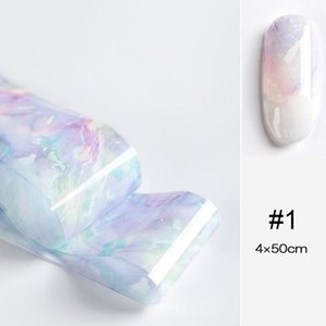 1 Pc Marble Series Nail Foils Nail Art Transfer Stickers Psychedelic Sky Series Decoration Rose Gold Champagne Sticker